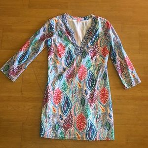 Lily Pulitzer coral beaded dress
